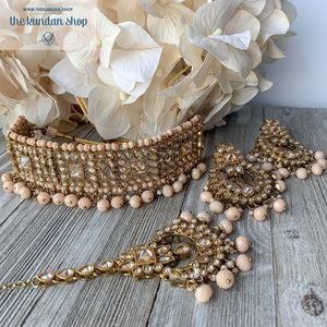 Crazy About You - Peach, Necklace Sets - THE KUNDAN SHOP