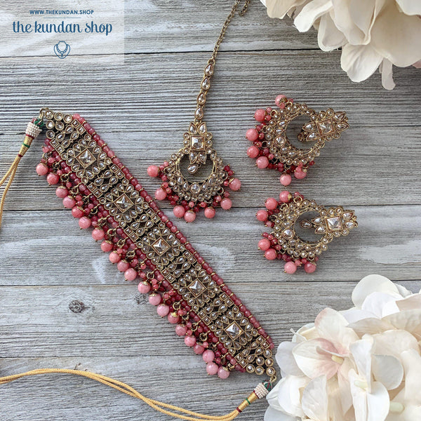 Crazy About You - Pink Necklace Sets THE KUNDAN SHOP
