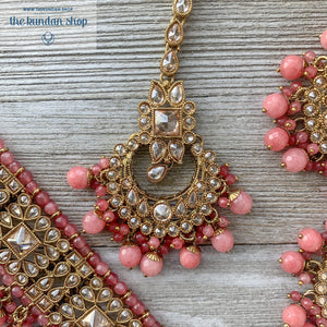 Crazy About You - Pink, Necklace Sets - THE KUNDAN SHOP