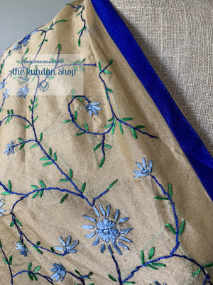 Blue Vines, Dupatta - THE KUNDAN SHOP