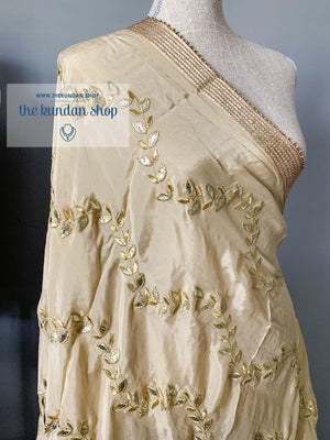 Gota Patti Leaves, Dupatta - THE KUNDAN SHOP