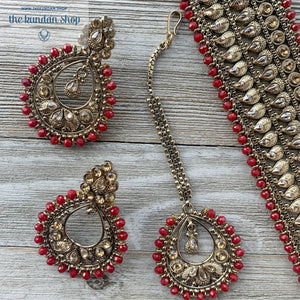 Crimson Choker, Necklace Sets - THE KUNDAN SHOP