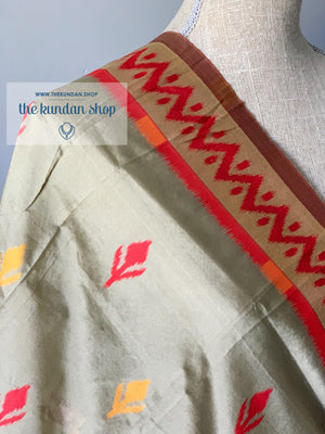 Tender Red Banarsi, Dupatta - THE KUNDAN SHOP