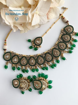 Ideal in Dark Green Necklace Sets THE KUNDAN SHOP Style 1
