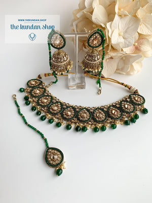 Ideal in Dark Green Necklace Sets THE KUNDAN SHOP Style 2