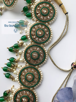 Spirited in Green Necklace Sets THE KUNDAN SHOP