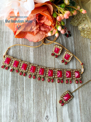 About Last Night - Dark Pink, Necklace Sets - THE KUNDAN SHOP