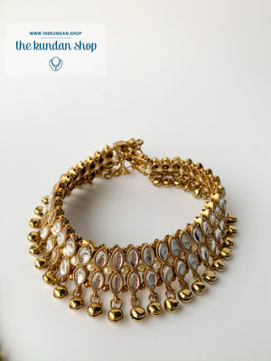 Double Diamond Stone Anklets, Anklets - THE KUNDAN SHOP