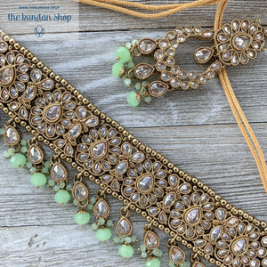 Empowered - Mint, Necklace Sets - THE KUNDAN SHOP