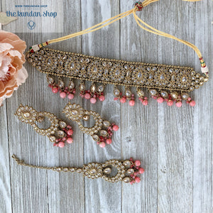Empowered - Pink, Necklace Sets - THE KUNDAN SHOP