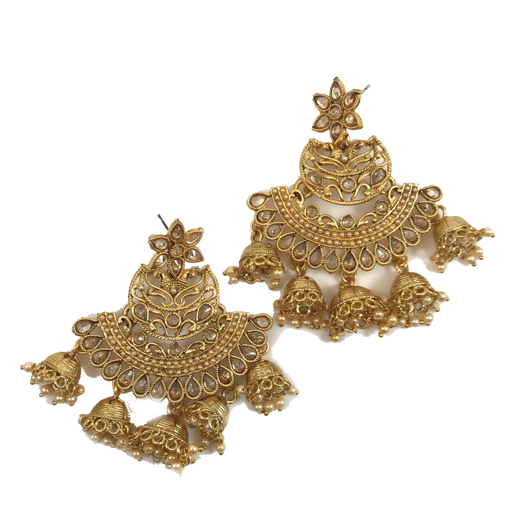 All Gold, Earrings + Tikka - THE KUNDAN SHOP