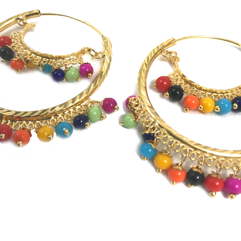 Multi-Coloured Baalis, Baalis - THE KUNDAN SHOP