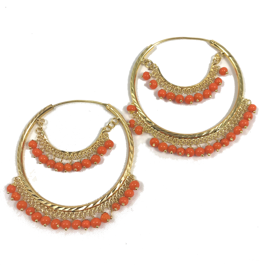 Perfect Orange Baali, Baalis - THE KUNDAN SHOP