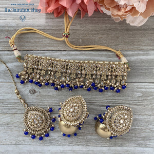 First Impressions - Blue, Necklace Sets - THE KUNDAN SHOP