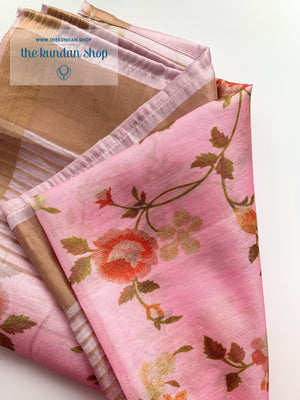 Classic Floral - Pink, Dupatta - THE KUNDAN SHOP