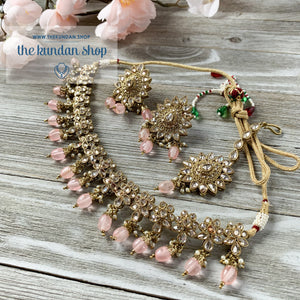 Simplicity - Pink Necklace Sets THE KUNDAN SHOP