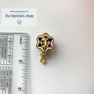 Statement Floral Nath/Nose Clip Naath THE KUNDAN SHOP