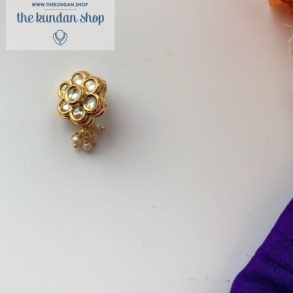 Statement Floral Nath/Nose Clip, Naath - THE KUNDAN SHOP
