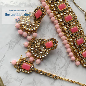 Troublemaker - Bubblegum Pink Necklace Set THE KUNDAN SHOP