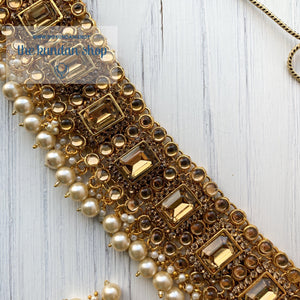 Troublemaker - Champagne, Necklace Sets - THE KUNDAN SHOP