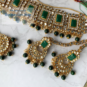 Troublemaker - Green Necklace Set THE KUNDAN SHOP With Sahara