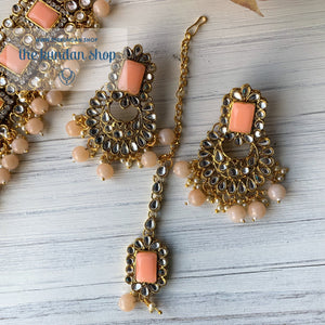Troublemaker - Peach, Necklace Sets - THE KUNDAN SHOP