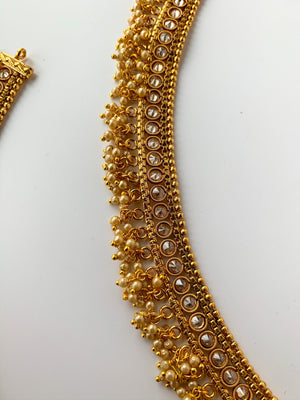 Second in Gold Anklets, Anklets - THE KUNDAN SHOP