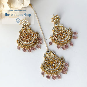 Leader - Light Pink, Earrings + Tikka - THE KUNDAN SHOP
