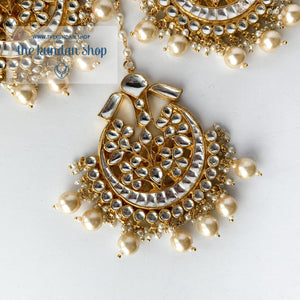 Leader - Pearl, Earrings + Tikka - THE KUNDAN SHOP