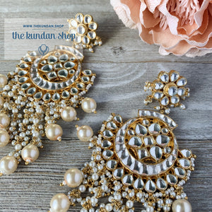 Exceptional - Pearl, Earrings + Tikka - THE KUNDAN SHOP