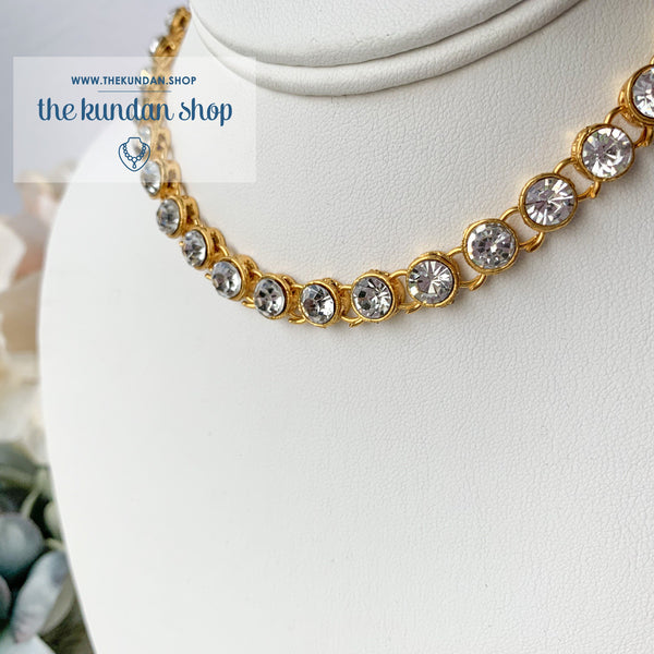 A Rhinestone Layer, Necklace Sets - THE KUNDAN SHOP