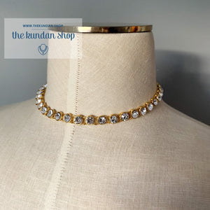 A Rhinestone Layer Necklace Sets THE KUNDAN SHOP