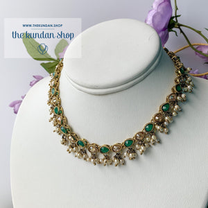 Pearl Clusters Choker, Necklace Sets - THE KUNDAN SHOP