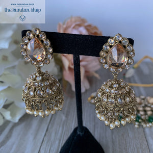 Green Desire, Necklace Sets - THE KUNDAN SHOP
