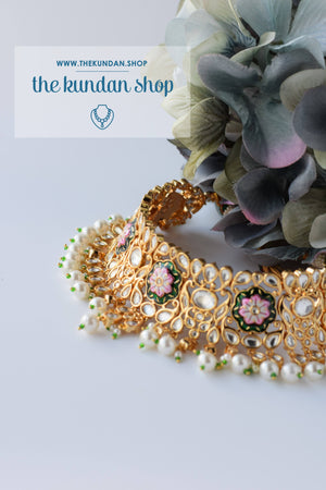 A Bridesmaid's Tale in Green, Necklace Sets - THE KUNDAN SHOP