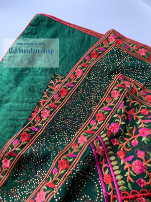 Threaded Paisley - Green