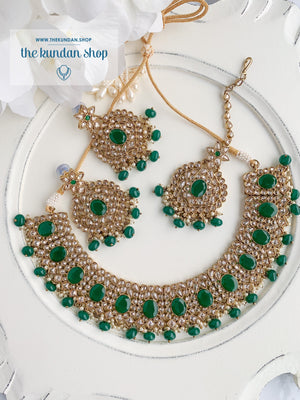 Spontaneous in Green Necklace Sets THE KUNDAN SHOP