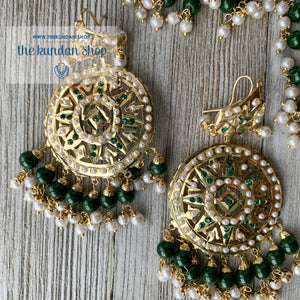 Sangeet Night - Green, Necklace Sets - THE KUNDAN SHOP