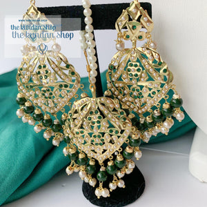 Higher Grounds - Green Necklace Sets THE KUNDAN SHOP