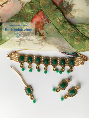 Loyals in Green, Necklace Sets - THE KUNDAN SHOP