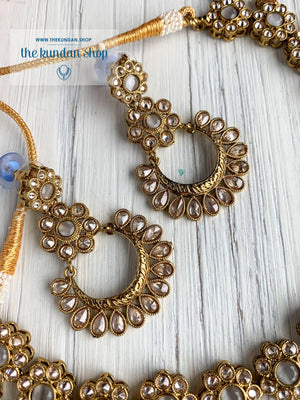 A Love of Polki in Grey Necklace Sets THE KUNDAN SHOP