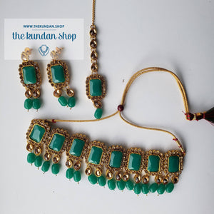 Heavenly - Green Necklace Sets THE KUNDAN SHOP