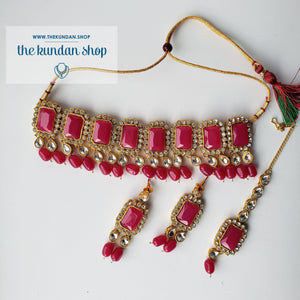 Heavenly - Pink, Necklace Sets - THE KUNDAN SHOP