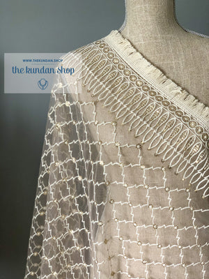 A Little Shimmer, Dupatta - THE KUNDAN SHOP