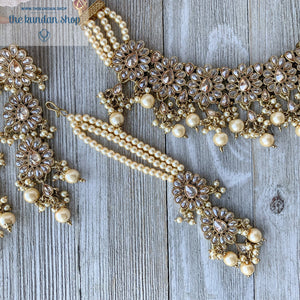 Hopeless Romantic - Champagne, Necklace Sets - THE KUNDAN SHOP