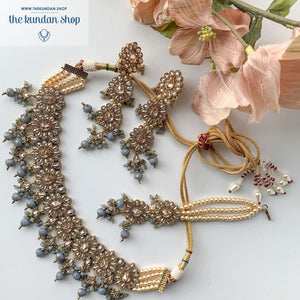 Hopeless Romantic - Grey, Necklace Sets - THE KUNDAN SHOP
