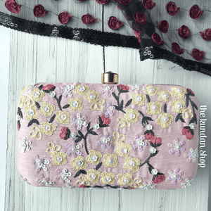Pink Parfait, Clutch - THE KUNDAN SHOP