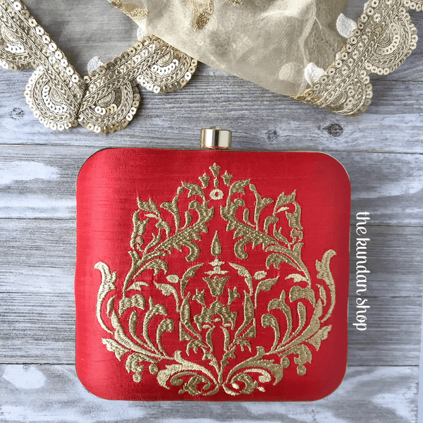 The Brides Wallet, Clutch - THE KUNDAN SHOP