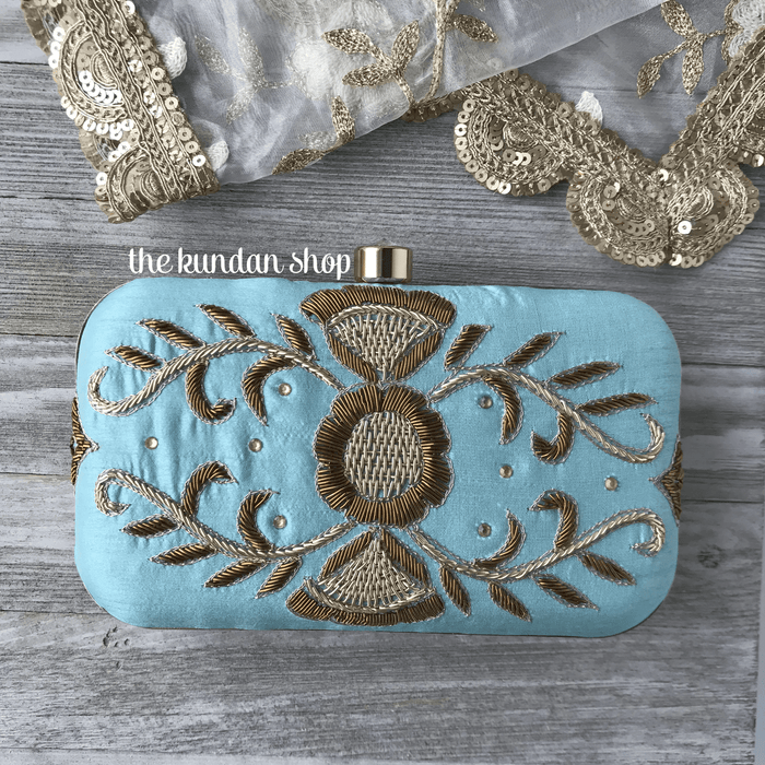 Clear Skies, Clutch - THE KUNDAN SHOP