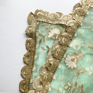 It's a Pastel Thing Organza Dupatta, Dupatta - THE KUNDAN SHOP